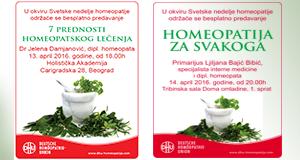 Svetska nedelja homeopatije obeležava se od 10. do 16. aprila